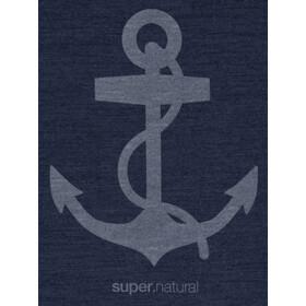 super.natural Graphic Koszulka Mężczyźni, blue iris melange/light grey anchor